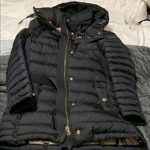 Authentic Burberry Black Down Winter Coat M Medium